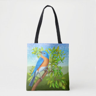 Eastern Bluebird Wild Bird Tote