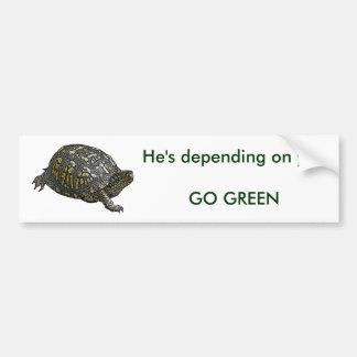 Eastern Box Turtle Coordinating Items Bumper Sticker