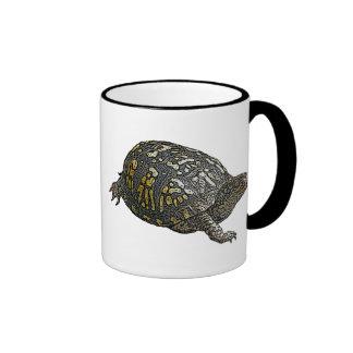 Eastern Box Turtle Coordinating Items Ringer Coffee Mug