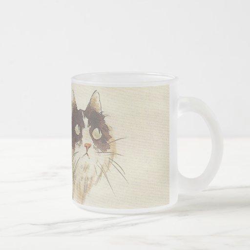 Eastern cat art coffee mugs