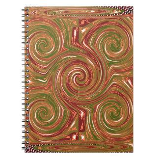 Eastern Chinese Golden GOODLUCK Art GIFTS FUN Notebook