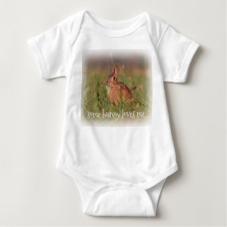 Eastern cottontail baby bunny baby bodysuit