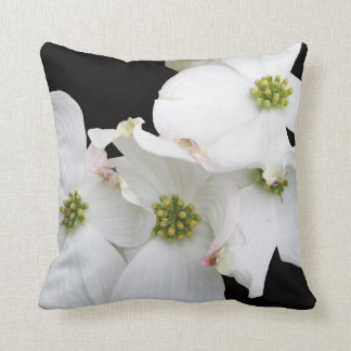 Eastern Dogwood Blossoms - Cornus florida Throw Pillow