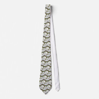 Eastern Dogwood Blossoms - Cornus florida Neck Tie