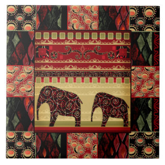 Eastern ethnic national pattern . Patchwork . Ceramic Tile
