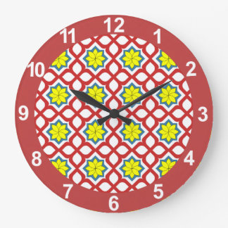 Eastern geometric pattern clock