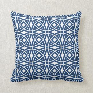 Eastern Geometric Pattern Navy Blue Cushion