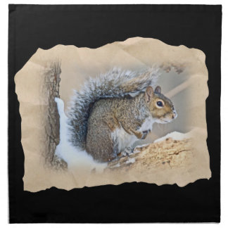 Eastern Gray Squirrel - Sciurus carolinensis Printed Napkins