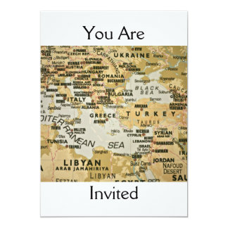 Eastern Mediterranean Map Invitation