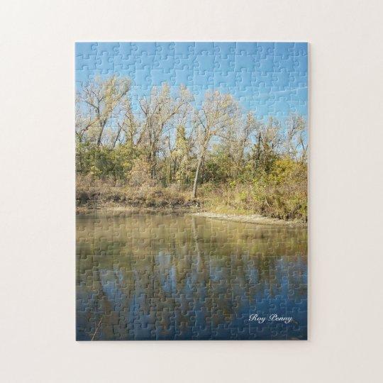 Eastern Nebraska Gravel Pit Jigsaw Puzzle