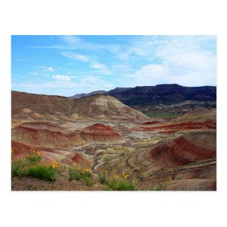 Eastern Oregon Painted Hills Vista Postcard