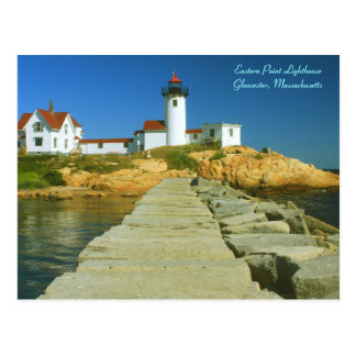 Eastern Point Lighthouse Gloucester MA Postcard