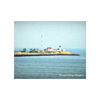 Eastern Point Lighthouse Wrapped Canvas Stretched Canvas Print