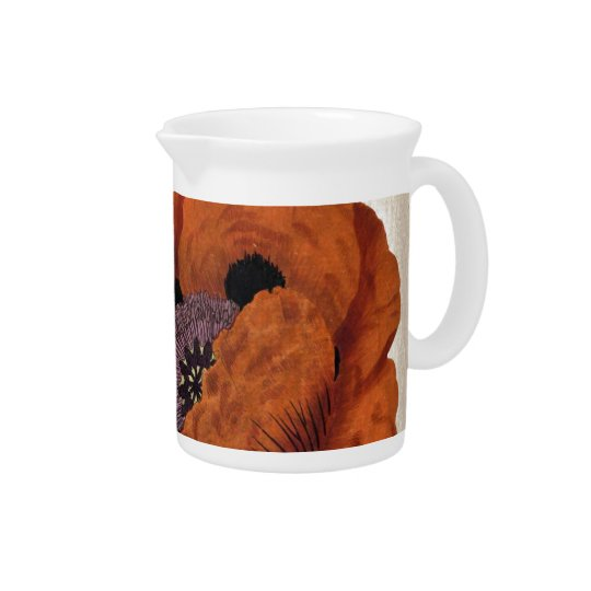 Eastern Poppy Drink Pitcher
