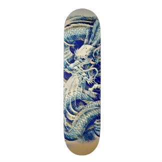 Eastern Samurai Wave Dragon Custom Pro Board Skate Board Deck