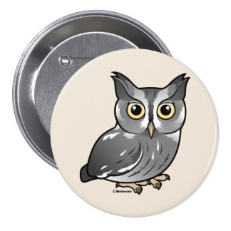 Eastern Screech Owl Gray Phase Buttons
