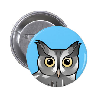 Eastern Screech Owl Gray Phase Pinback Buttons