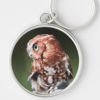Eastern Screech Owl Key Ring