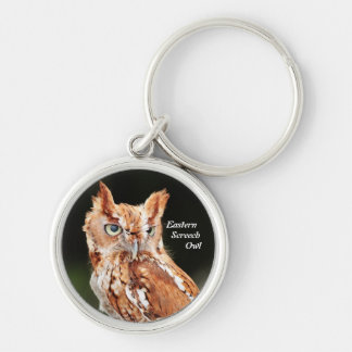Eastern Screech Owl (Otus asio) keychain