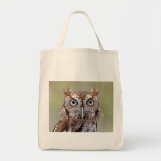 Eastern Screech Owl Photograph Grocery Tote Bag