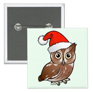 Eastern Screech Owl Santa Pin
