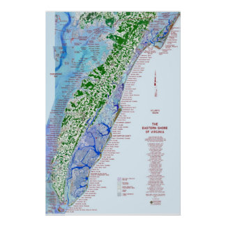 Eastern Shore Map 1 Poster