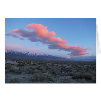 Eastern Sierra Sunrise Greeting Card