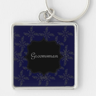 Eastern Star Silver-Colored Square Key Ring