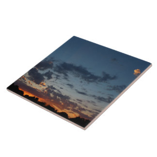 Eastern Sunrise Sky and Clouds Summer 2016 Tile