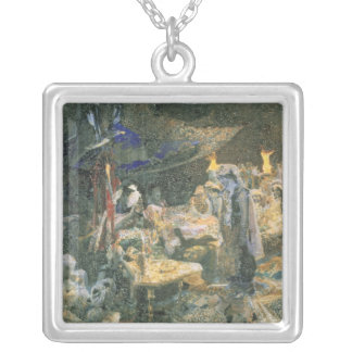 Eastern Tale, 1886 Silver Plated Necklace
