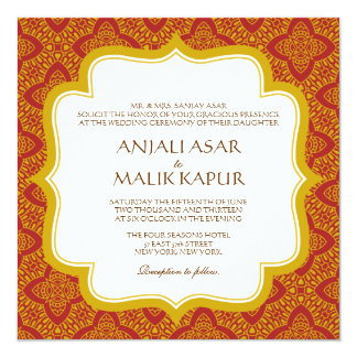 Eastern Tapestry | Wedding Invitation