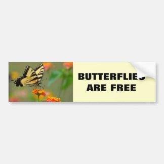 Eastern Tiger Swallowtail Butterfly Bumper Sticker