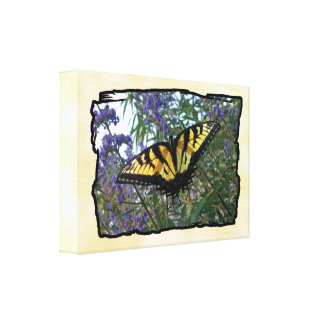 Eastern Tiger Swallowtail Butterfly Gallery Wrap Canvas