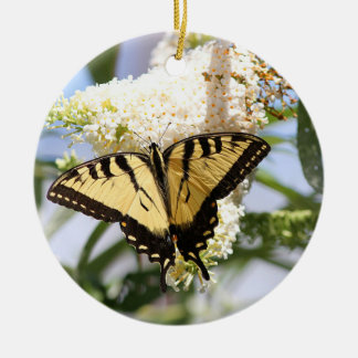 Eastern Tiger Swallowtail Butterfly Ceramic Ornament