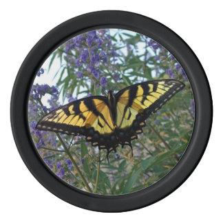 Eastern Tiger Swallowtail Butterfly Poker Chip Set