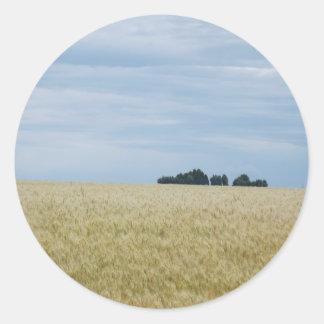 Eastern Washington Wheat Field Round Sticker