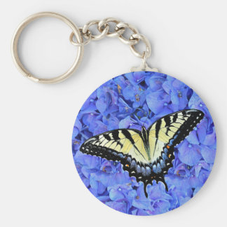 Eastern Yellow Tiger Swallowtail Butterfly T-Shirt Key Ring
