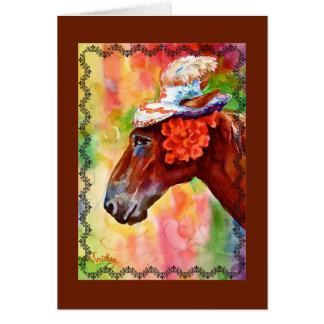 Easter's Horse Birthday Card