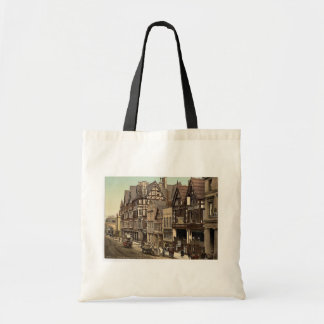 Eastgate Street and Newgate Street, Chester, Engla Canvas Bags