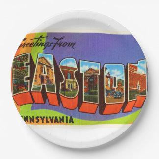 Easton Pennsylvania PA Old Vintage Travel Souvenir 9 Inch Paper Plate