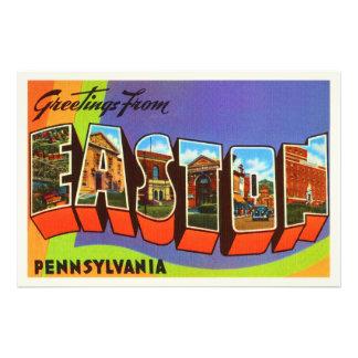 Easton Pennsylvania PA Old Vintage Travel Souvenir Photo