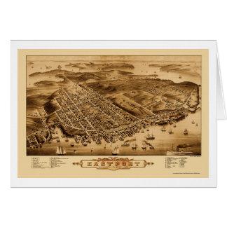 Eastport, ME Panoramic Map - 1879 Card