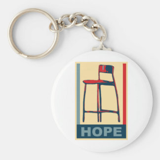Eastwooding Invisible Obama Chair of Hope Basic Round Button Key Ring