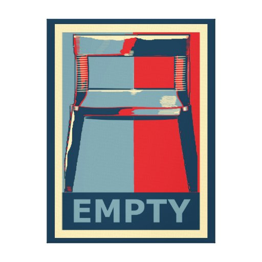 Eastwooding the Obama Chair Funny Political Stretched Canvas Print