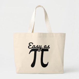 Easy As Pi Large Tote Bag