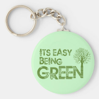 Easy being green key ring