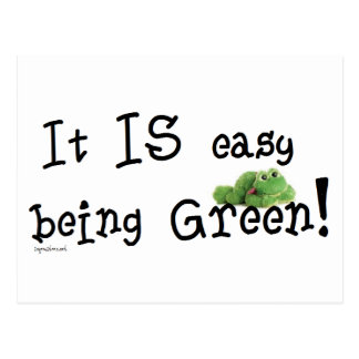 Easy being Green Postcard