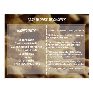 Easy Blonde Brownie Recipe Postcard