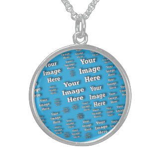 Easy Budget Image Template Sterling Silver Necklace
