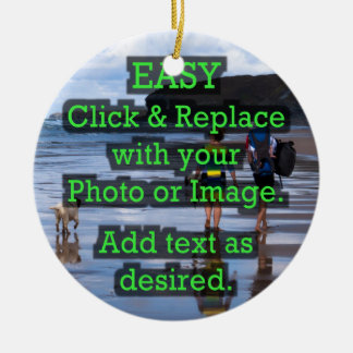 Easy Click & Replace Image to Create Your Own Ceramic Ornament